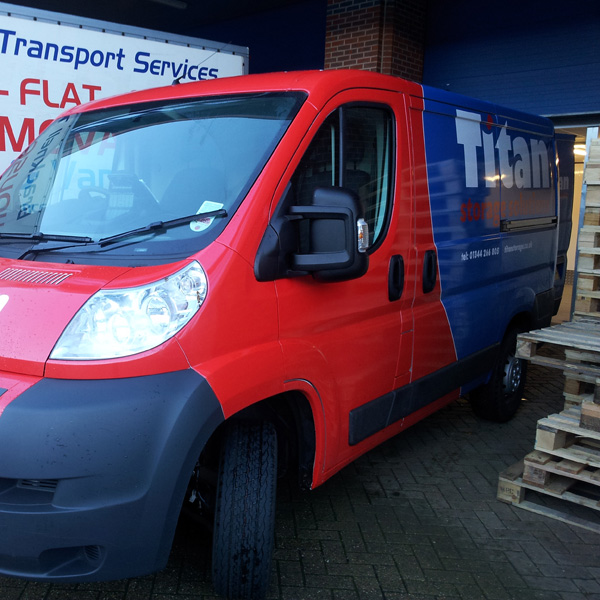 Titan Storage removals van