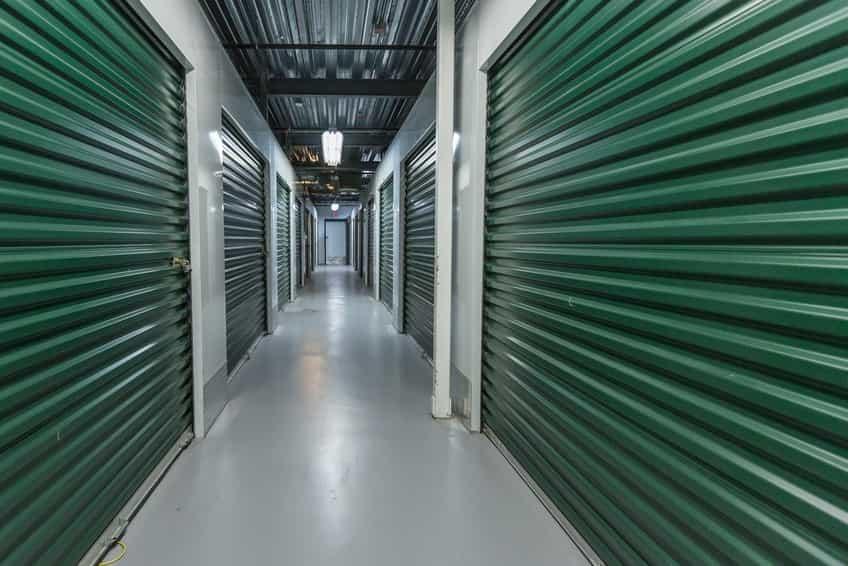 Storage facility corridor