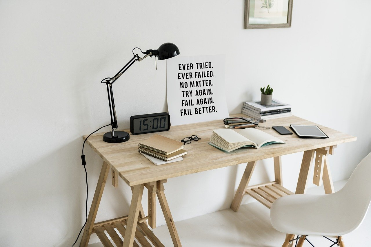 Workspace living minimalist example