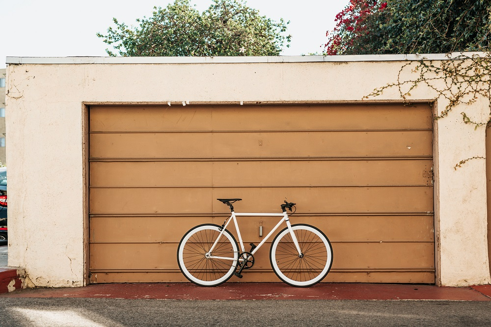 double garage with bike