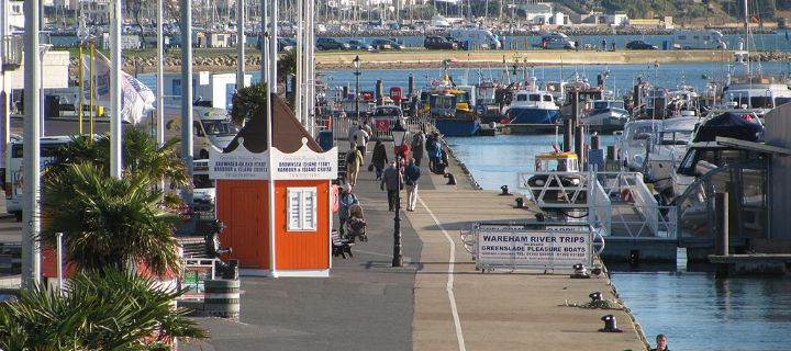 Poole harbour picture of boardwalk