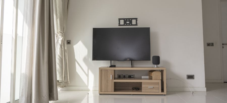 Open spaced tv unit in home