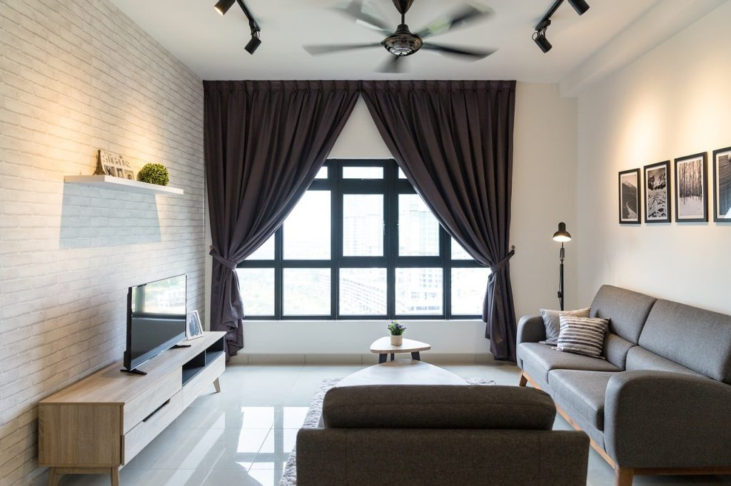 Open well-lit living room