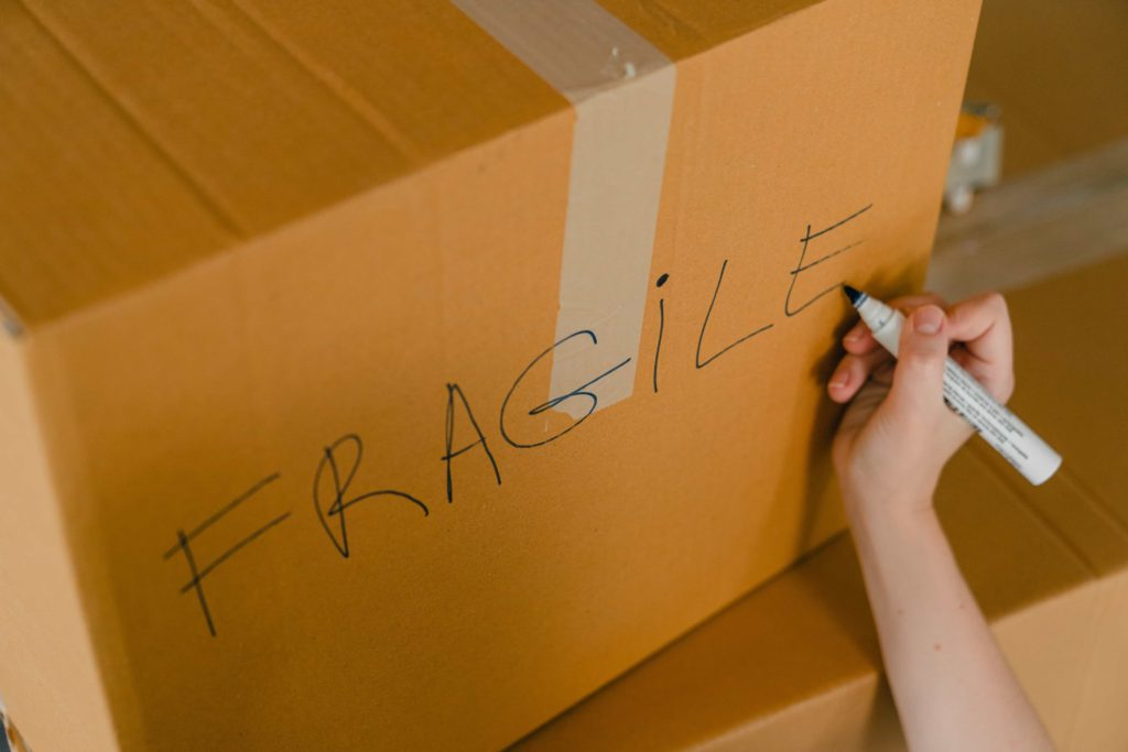 moving box labelled fragile