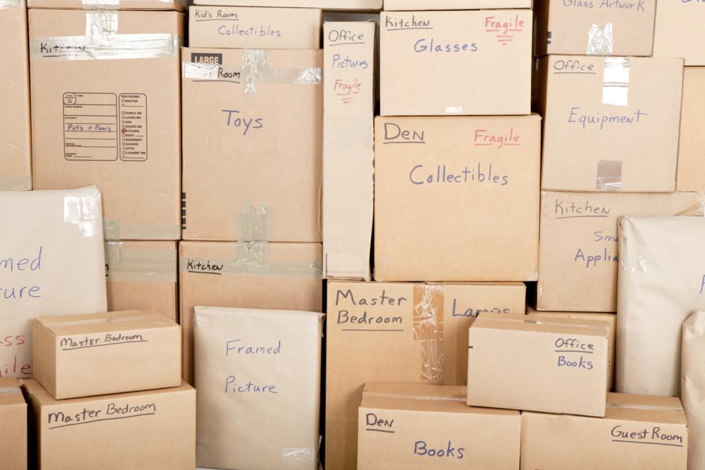 Storage box pile